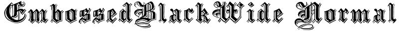 EmbossedBlackWide Normal Font