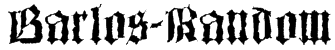 Barlos-Random Font