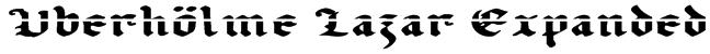 Uberhölme Lazar Expanded Font