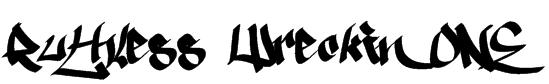 Ruthless Wreckin ONE Font