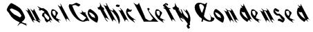 QuaelGothicLeftyCondensed Font