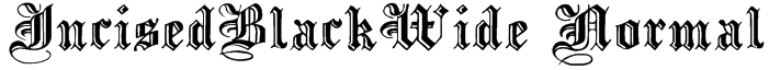 IncisedBlackWide Normal Font