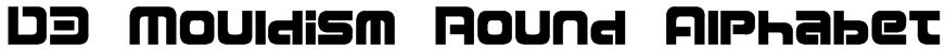 D3 Mouldism Round Alphabet Font