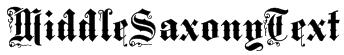 MiddleSaxonyText Font