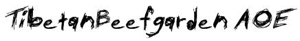 TibetanBeefgarden AOE Font