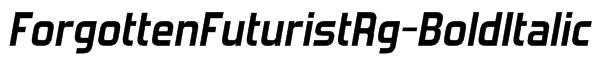 ForgottenFuturistRg-BoldItalic Font