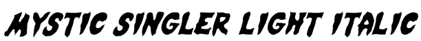 Mystic Singler Light Italic Font