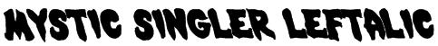 Mystic Singler Leftalic Font