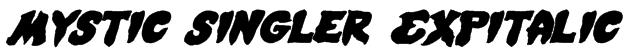 Mystic Singler ExpItalic Font