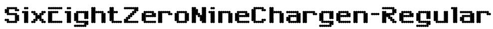 SixEightZeroNineChargen-Regular Font