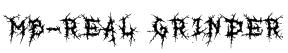 MB-Real Grinder Font