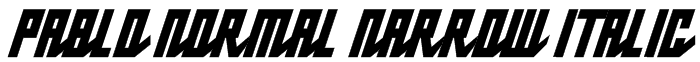 Pablo Normal Narrow Italic Font
