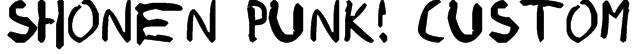 shonen punk! custom Font