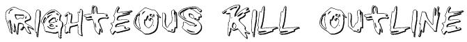 Righteous Kill Outline Font