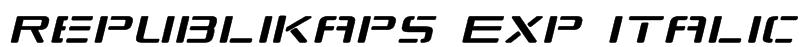 Republikaps Exp Italic Font