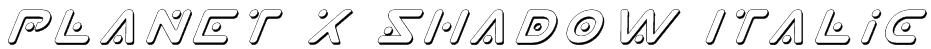 Planet X Shadow Italic Font