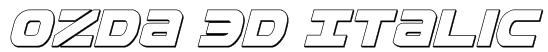 Ozda 3D Italic Font