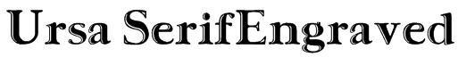 Ursa SerifEngraved Font