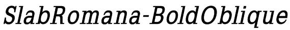 SlabRomana-BoldOblique Font