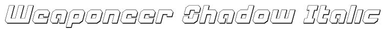Weaponeer Shadow Italic Font