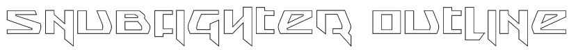 Snubfighter Outline Font