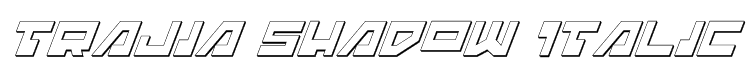 Trajia Shadow Italic Font