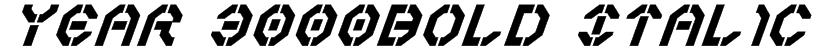 Year 3000Bold Italic Font