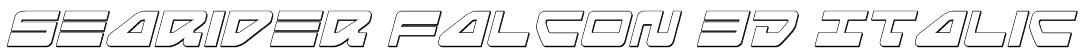 Searider Falcon 3D Italic Font