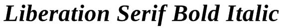 Liberation Serif Bold Italic Font
