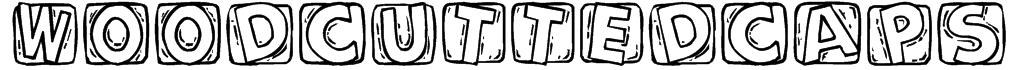 WoodcuttedCaps Font