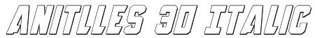Anitlles 3D Italic Font