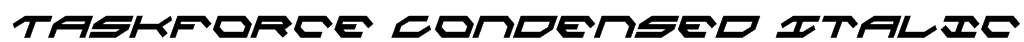 Taskforce Condensed Italic Font