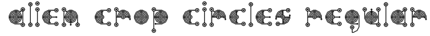 alien crop circles Regular Font