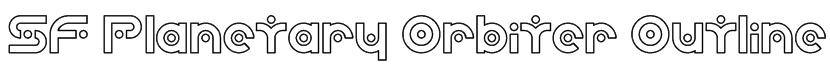 SF Planetary Orbiter Outline Font