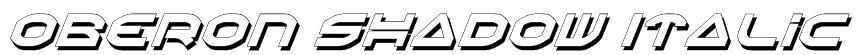 Oberon Shadow Italic Font
