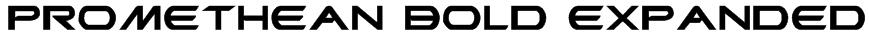 Promethean Bold Expanded Font