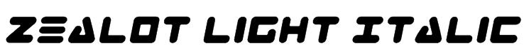 Zealot Light Italic Font