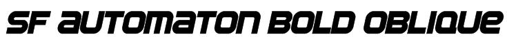 SF Automaton Bold Oblique Font