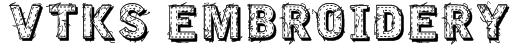 VTKS EMBROIDERY Font