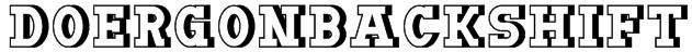 DoergonBackshift Font