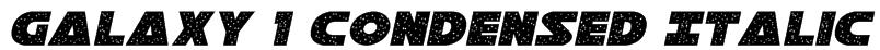 Galaxy 1 Condensed Italic Font