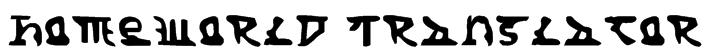 Homeworld Translator Font