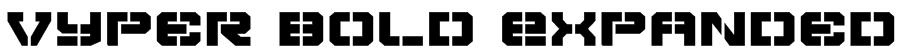 Vyper Bold Expanded Font