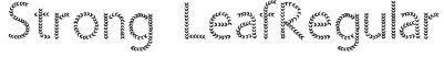 Strong LeafRegular Font