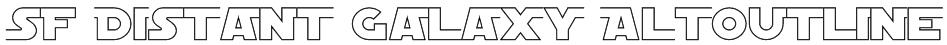 SF Distant Galaxy AltOutline Font