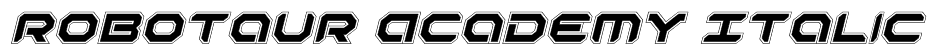 Robotaur Academy Italic Font