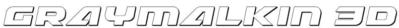 Graymalkin 3D Font