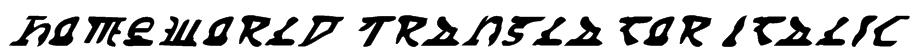 Homeworld Translator Italic Font