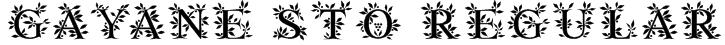 Gayane StO Regular Font