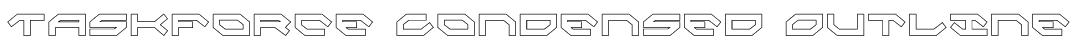 Taskforce Condensed Outline Font